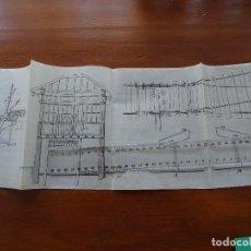 Arte: DIBUJO MANUSCRITO FINES S XIX, FERROCARRILES. Lote 193335990