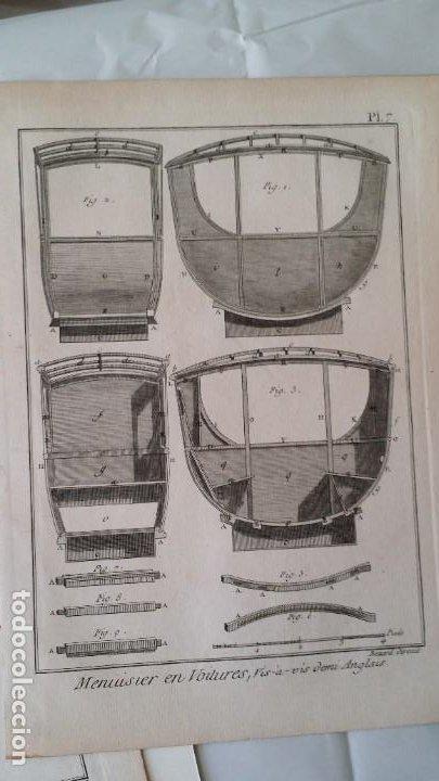 Arte: Diderot y d Alembert 17 planchas de 1789, CARRUAJES, de la ENCYCLOPEDIE Francais - Foto 2 - 193354263