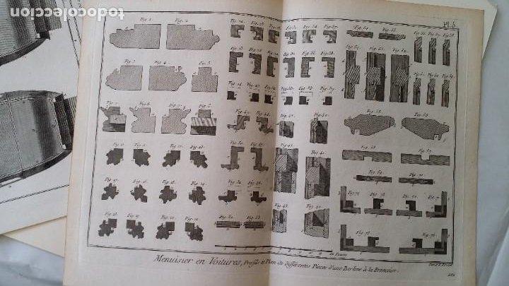 Arte: Diderot y d Alembert 17 planchas de 1789, CARRUAJES, de la ENCYCLOPEDIE Francais - Foto 3 - 193354263