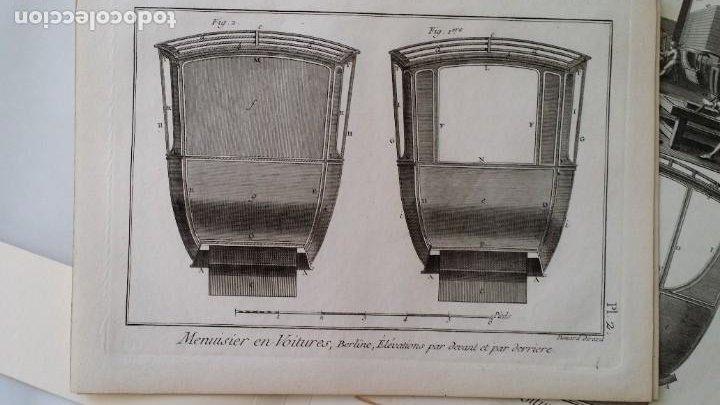 Arte: Diderot y d Alembert 17 planchas de 1789, CARRUAJES, de la ENCYCLOPEDIE Francais - Foto 4 - 193354263
