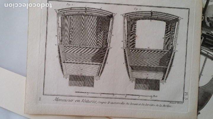 Arte: Diderot y d Alembert 17 planchas de 1789, CARRUAJES, de la ENCYCLOPEDIE Francais - Foto 6 - 193354263