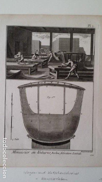 Arte: Diderot y d Alembert 17 planchas de 1789, CARRUAJES, de la ENCYCLOPEDIE Francais - Foto 7 - 193354263