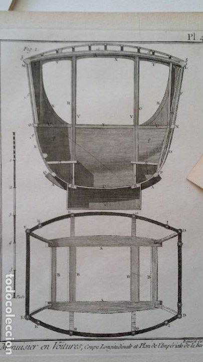 Arte: Diderot y d Alembert 17 planchas de 1789, CARRUAJES, de la ENCYCLOPEDIE Francais - Foto 11 - 193354263