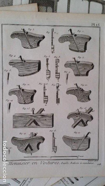 Arte: Diderot y d Alembert 17 planchas de 1789, CARRUAJES, de la ENCYCLOPEDIE Francais - Foto 12 - 193354263