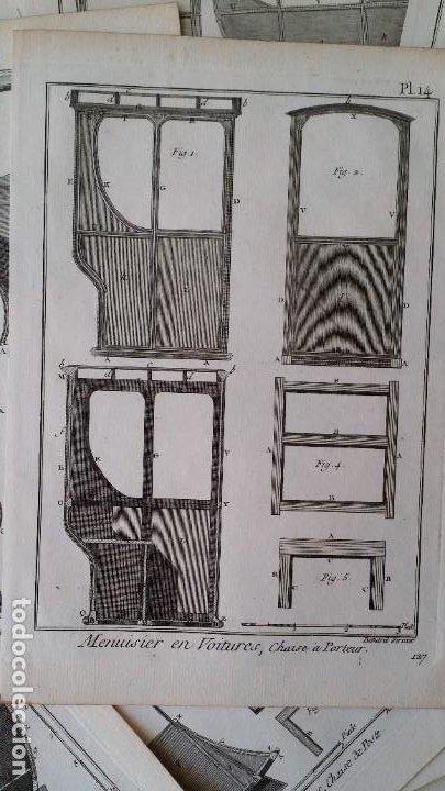 Arte: Diderot y d Alembert 17 planchas de 1789, CARRUAJES, de la ENCYCLOPEDIE Francais - Foto 13 - 193354263