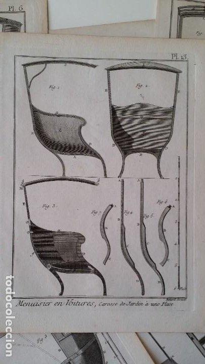 Arte: Diderot y d Alembert 17 planchas de 1789, CARRUAJES, de la ENCYCLOPEDIE Francais - Foto 14 - 193354263