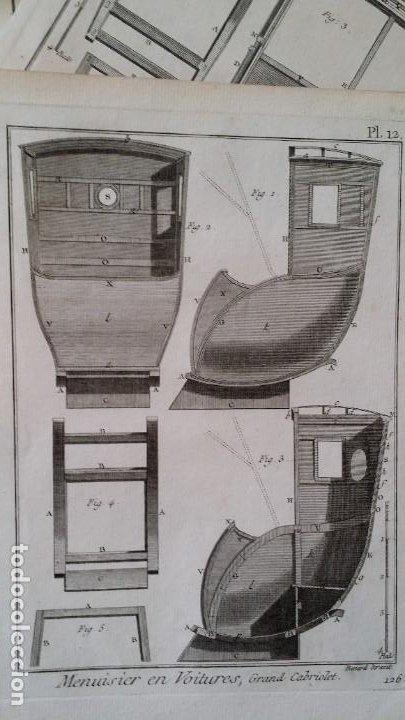 Arte: Diderot y d Alembert 17 planchas de 1789, CARRUAJES, de la ENCYCLOPEDIE Francais - Foto 15 - 193354263