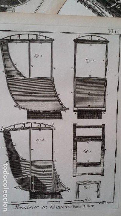 Arte: Diderot y d Alembert 17 planchas de 1789, CARRUAJES, de la ENCYCLOPEDIE Francais - Foto 17 - 193354263