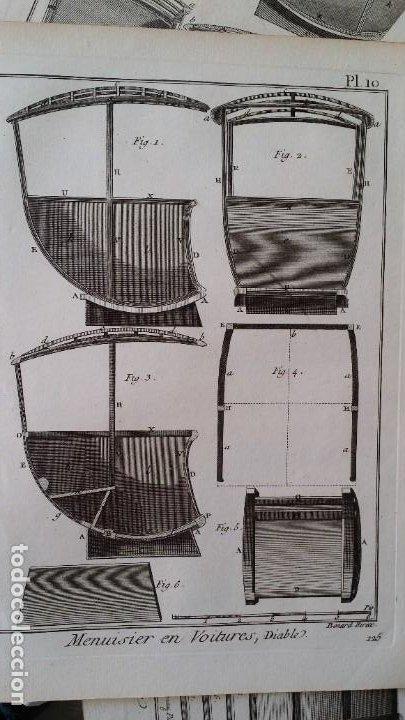 Arte: Diderot y d Alembert 17 planchas de 1789, CARRUAJES, de la ENCYCLOPEDIE Francais - Foto 18 - 193354263