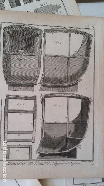 Arte: Diderot y d Alembert 17 planchas de 1789, CARRUAJES, de la ENCYCLOPEDIE Francais - Foto 8 - 193354263