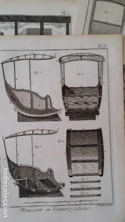 Arte: Diderot y d Alembert 17 planchas de 1789, CARRUAJES, de la ENCYCLOPEDIE Francais - Foto 19 - 193354263