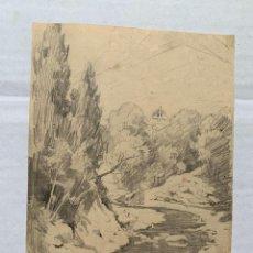 Arte: MARCELIANO SANTA MARIA - DIBUJO ORIGINAL FIRMADO. Lote 193756056