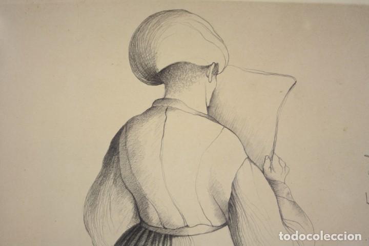 Arte: Carles Buró, personaje, 1982, dibujo sobre papel, firmado y dedicado. 35x25,5cm - Foto 5 - 193882557
