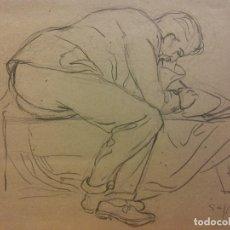 Arte: ORIGINAL. OBRA DE FRANCESC GASSÓ. HOMBRE. MEDIDAS 30 X 23. Lote 193923337