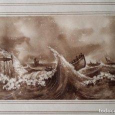 Arte: DIBUJO AL LAVIS, 1830. Lote 194115366