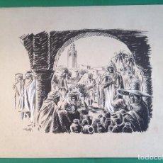 Arte: ANÓNIMO. MERCADO ARABE.. Lote 194212732