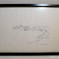 Arte: DIBUJO ORIGINAL ADOLF LLOVERA- MENORCA. Lote 194224378