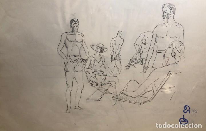 DIBUJOS ORIGINALES DEL AUTOR-AÑO 1965 A3 65-1(9,90€) (Arte - Dibujos - Contemporáneos siglo XX)