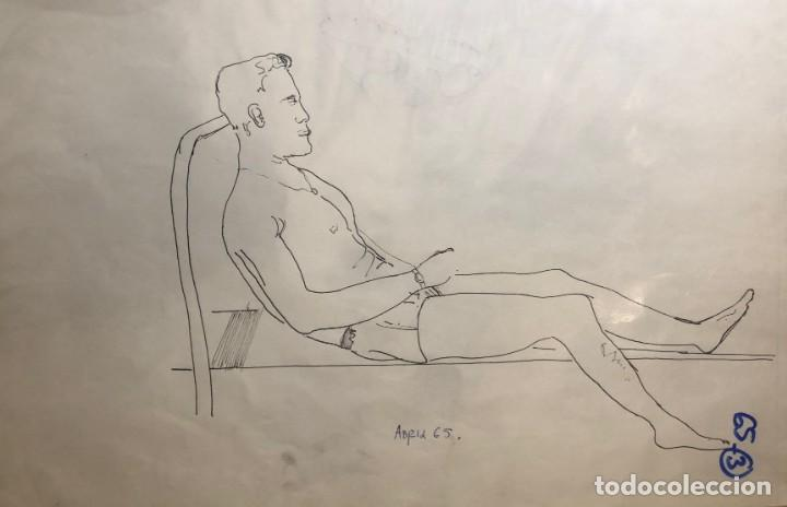 DIBUJOS ORIGINALES DEL AUTOR-AÑO 1965 A3 65-3(9,90€) (Arte - Dibujos - Contemporáneos siglo XX)