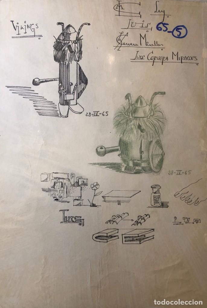 DIBUJOS ORIGINALES DEL AUTOR-AÑO 1965 A3 65-5(9,90€) (Arte - Dibujos - Contemporáneos siglo XX)