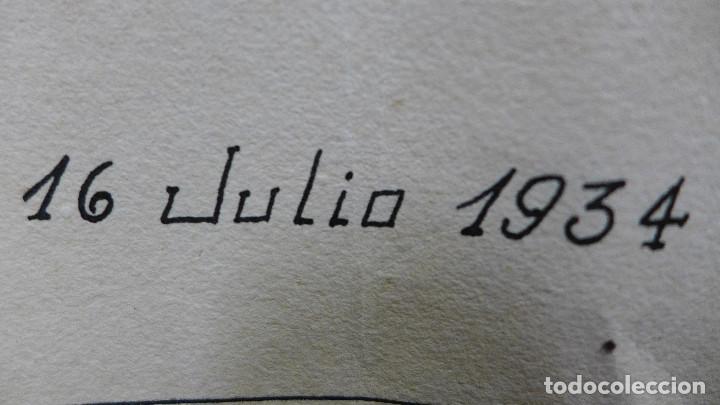 Arte: DIBUJO DE UN COCHE DE LOS AÑOS 30 FIRMADO POR JOSE LEAL FRANCO EL 16 DE JULIO DE 1934 - Foto 2 - 194246112
