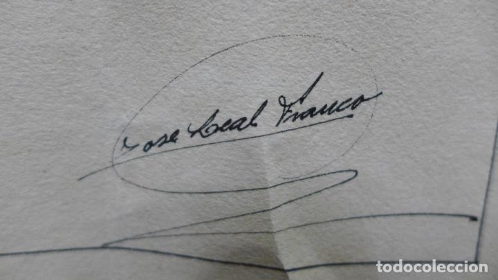 Arte: DIBUJO DE UN COCHE DE LOS AÑOS 30 FIRMADO POR JOSE LEAL FRANCO EL 16 DE JULIO DE 1934 - Foto 3 - 194246112