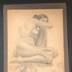 Arte: DIBUJO A LÁPIZ DESNUDO FEMENINO 1920'S. ANÓNIMO.. Lote 194270742