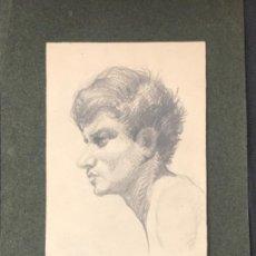 Arte: RETRADO MASCULINO A LÁPIZ 1920'S. ANÓNIMO. . Lote 194271271