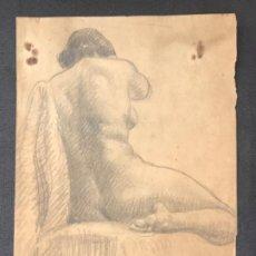 Arte: DIBUJO A LÁPIZ DESNUDO FEMENINO 1920'S. ANÓNIMO.. Lote 194271615