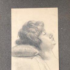 Arte: DIBUJO A LÁPIZ TORSO FEMENINO 1920'S. ANÓNIMO.. Lote 194272405