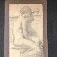 Arte: DIBUJO A LÁPIZ DESNUDO FEMENINO 1920'S. ANÓNIMO.. Lote 194273655