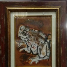 Arte: DIBUJO DE CERAS DE SAPO, POR ÁLVARO DELGADO (1922-2016). Lote 194278133