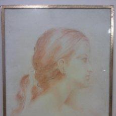 Arte: DIBUJO ORIGINAL. MUJER. AÑOS 80. MEDIDAS 30 X 40 CM. Lote 194285051