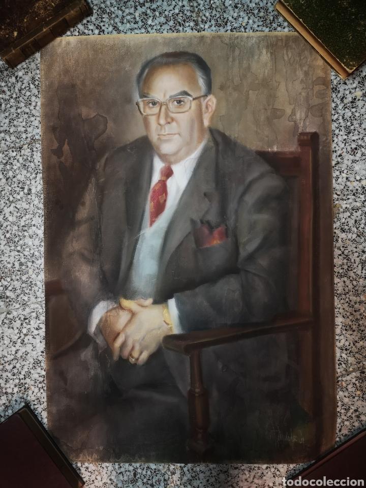 FRANCISCO HERNANDEZ, RETRATO DE CABALLERO A PASTEL, GRANDES DIMENSIONES, 109X74CM. (Arte - Dibujos - Contemporáneos siglo XX)