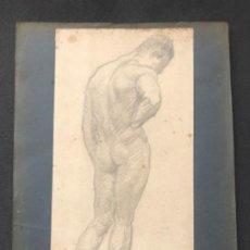 Arte: DIBUJO A LÁPIZ TORSO MASCULINO 1920'S. ANÓNIMO. . Lote 194361928