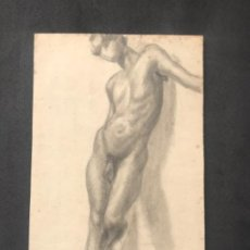 Arte: DIBUJO A LÁPIZ TORSO MASCULINO 1920'S. ANÓNIMO. . Lote 194362261