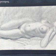Arte: DIBUJO A LÁPIZ DESNUDO FEMENINO 1920'S. ANÓNIMO. . Lote 194363837
