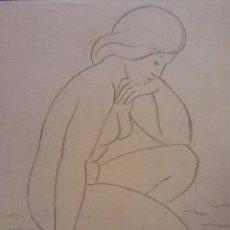 Arte: ORIGINAL. OBRA DE FRANCESC GASSÓ. MUJER. MEDIDAS 17*19. Lote 194493351