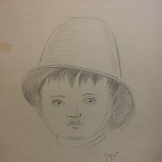 Arte: ORIGINAL. OBRA DE FRANCESC GASSÓ. NIÑO. MEDIDAS 25*35. Lote 194493916