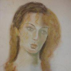 Arte: ORIGINAL. OBRA DE ARACELI BURBANO. MUJER. MEDIDAS 45*32. Lote 194498546