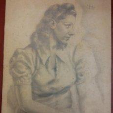 Arte: ORIGINAL. MUJER. MEDIDAS 48*33. Lote 194499658