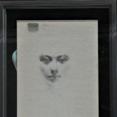Arte: CARBONCILLO -ROSTRO DE MUJER- POR JOAN BELTRAN BOFILL. FIRMADO Y NUMERADO. Lote 194513576