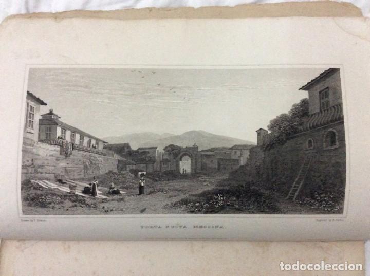 LOTE CON 4 DIBUJOS HECHOS POR EL SR. DEWINT, PUBLICADOS EN 1822, CON EL TEMA SICILIA. SALIDA A 1€ (Arte - Dibujos - Modernos siglo XIX)