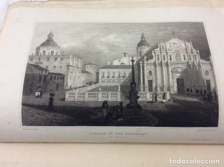 Arte: Lote con 4 dibujos hechos por el Sr. Dewint, publicados en 1822, con el tema SICILIA. Salida a 1€ - Foto 2 - 194535317