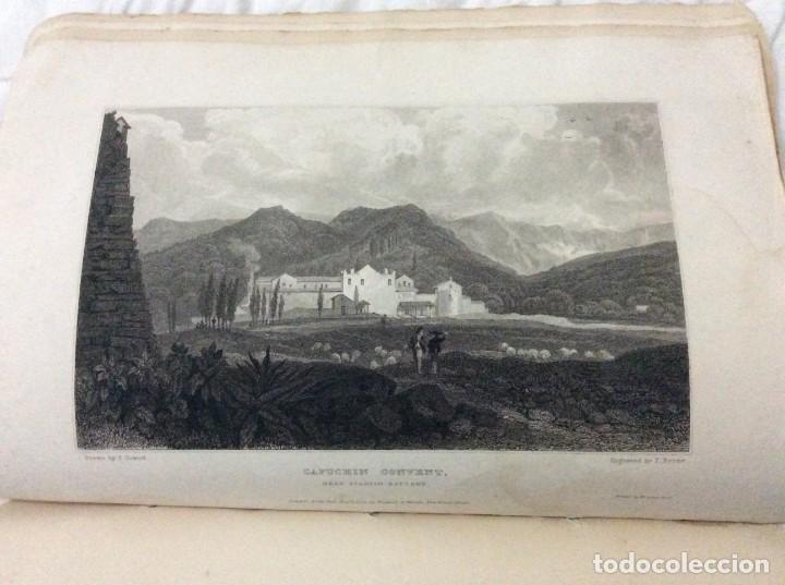 Arte: Lote con 4 dibujos hechos por el Sr. Dewint, publicados en 1822, con el tema SICILIA. Salida a 1€ - Foto 3 - 194535317