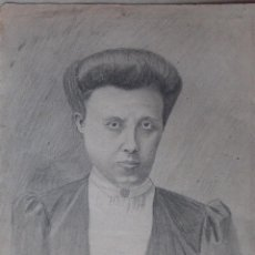 Arte: DIBUJO SEÑORA DE ÉPOCA. Lote 194541147