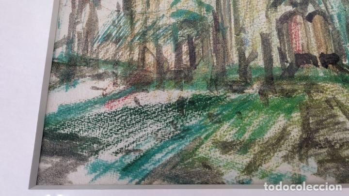 Arte: CATEDRAL. DIBUJO. MIXTA SOBRE PAPEL. JOAN ABELLO PRAT. SIGLO XX. ESPAÑA(?) - Foto 8 - 148030302