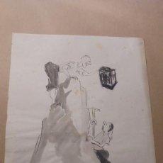Arte: DIBUJO PUBLICITARIO DE LA ARTISTA ELFI - OSIANDER - DIBUJO A TINTA - 28X22 CM. . Lote 194558661