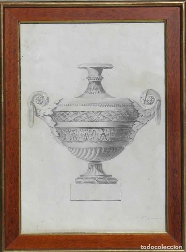 4 DIBUJOS DE DE COPAS ANTI GARRIGAS 1.835 (Arte - Dibujos - Modernos siglo XIX)