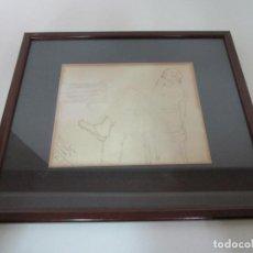 Arte: DIBUJO - FIGURA - FIRMA T DE T - DEDICADO. Lote 194597545